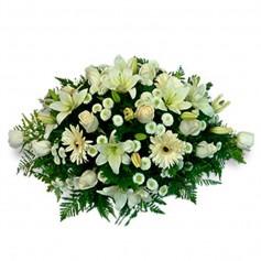 Ovalo de Condolencias con Flores Mix