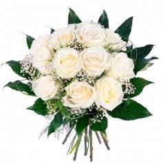 Ramo para Condolencias de 12 Rosas Blancas