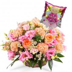 Arreglo de Flores para Nacimiento Niña