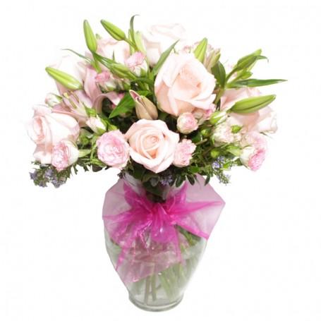 Florero Nacimiento Mix Rosas