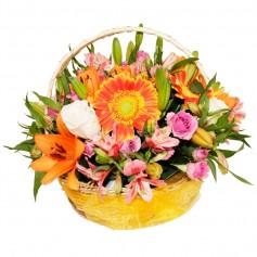 Canastillo Mix Redondo de Flores