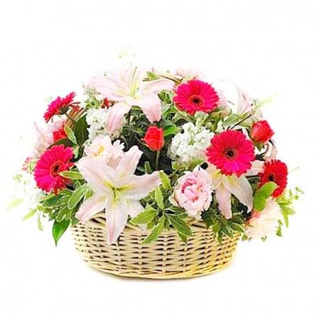 Canastillo de Flores Primaverales