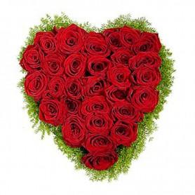 Canastillo de Corazón de Rosas