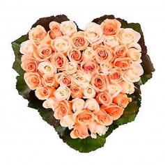 Canastillo de Corazón Rosas Rosa