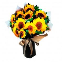 Ramo de 15 Girasoles más flores mix