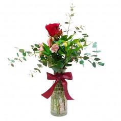 Florero de 1 Rosa Roja