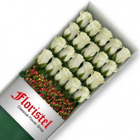 Caja de 20 Rosas Blancas