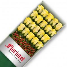 Caja de 20 Rosas Amarillas
