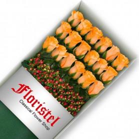 Caja de 18 Rosas Damasco