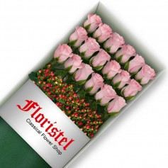Caja de 18 Rosas Rosadas