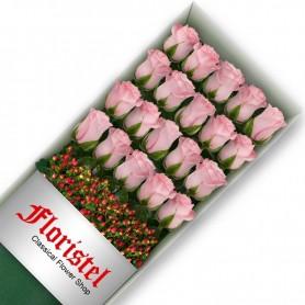 Caja de 20 Rosas Rosadas