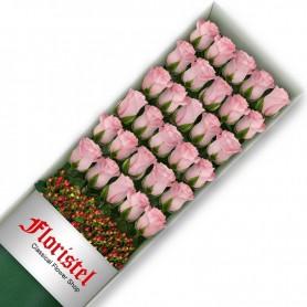 Caja de 30 Rosas Rosadas