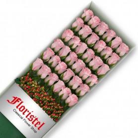 Caja de 36 Rosas Rosadas