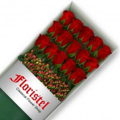 Caja de 15 Rosas Rojas