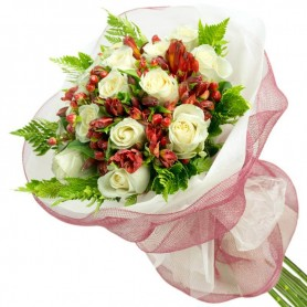 Ramos de 16 Rosas Blancas