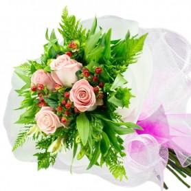 Ramo de 4 Rosas Rosadas