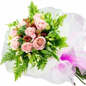 Ramo de 8 Rosas Rosadas