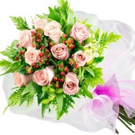 Ramo de 10 Rosas Rosadas