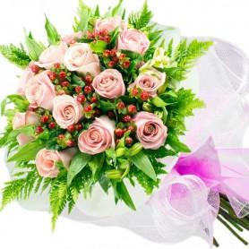 Ramo de 15 Rosas Rosadas