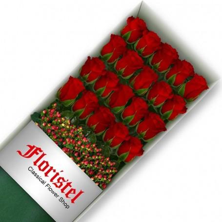 Cajas de 20 Rosas Rojas