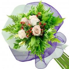Ramos de 4 Rosas Blancas