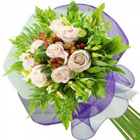 Ramos de 8 Rosas Blancas
