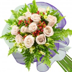 Ramos de 12 Rosas Blancas