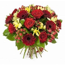 Ramo de Flores Rojos Primaverales