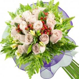 Ramos de 22 Rosas Blancas