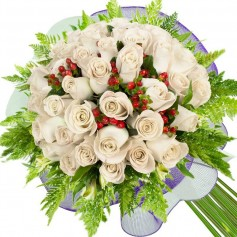 Ramos de 26 Rosas Blancas