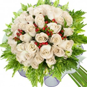 Ramos de 28 Rosas Blancas