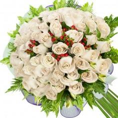 Ramos de 32 Rosas Blancas