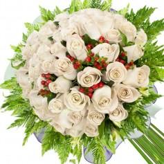 Ramos de 34 Rosas Blancas