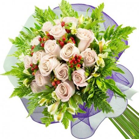 Ramos de 15 Rosas Blancas