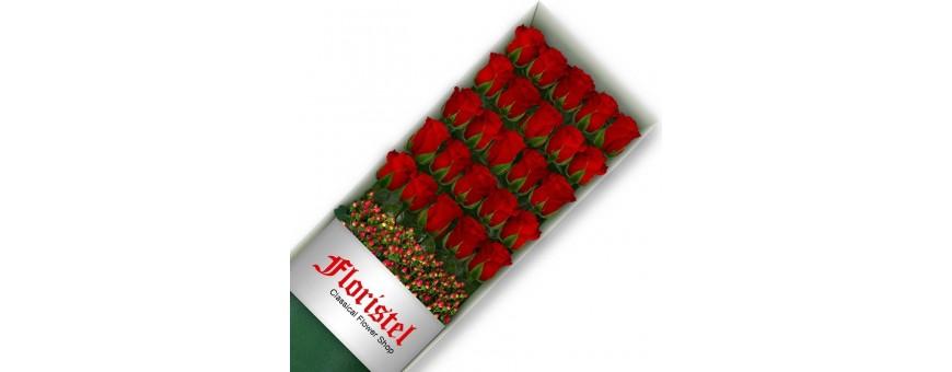 Cajas de Rosas Rojas