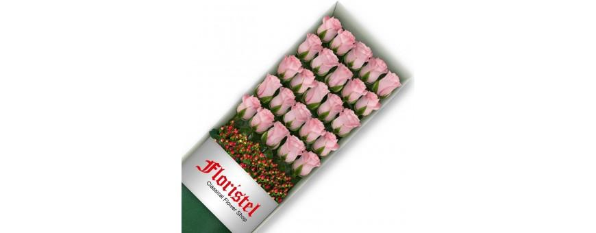 Cajas de Rosas Rosadas