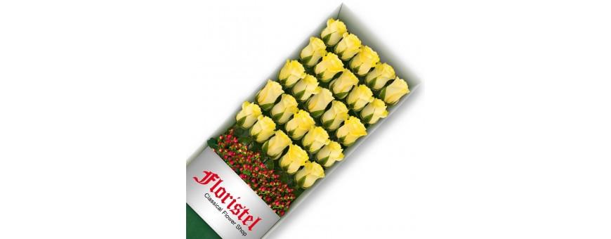 Cajas de Rosas Amarillas