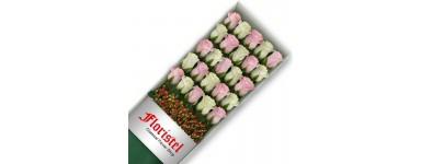 Cajas de Rosas Mix Blancas y Rosadas